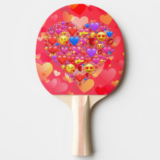 Heart smiley ping pong paddle
