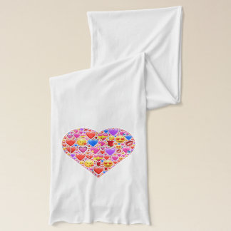 Heart smiley scarf