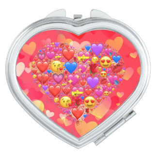 Heart smiley travel mirror