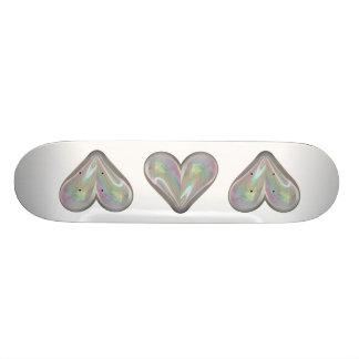 heart soap bubble skate deck