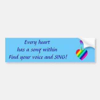 Heart Song Bumper Sticker
