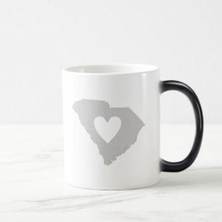 Heart South Carolina state silhouette Magic Mug