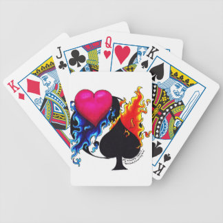 Heart, Spade, Ying and Yand Bicycle Playing Cards