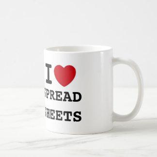 heart, SPREADSHEETS, I Basic White Mug