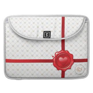 Heart Stamp 1 Mac Book Sleeve MacBook Pro Sleeves