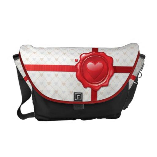 Heart Stamp 1 Messenger Bag