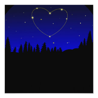 Heart Star Constellation Card