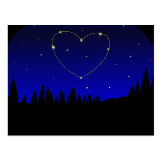 Heart Star Constellation Postcard