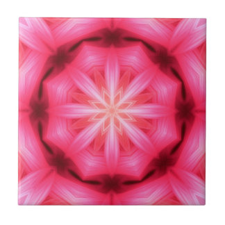 Heart Star Mandala Ceramic Tile