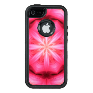Heart Star Mandala OtterBox Defender iPhone Case