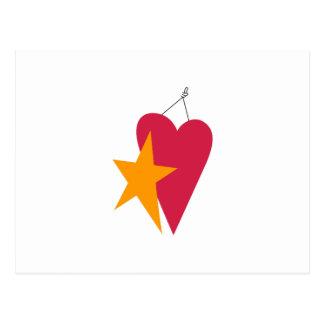 Heart & Star Postcard