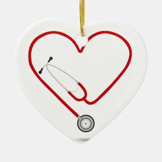 heart stethoscope.jpg ceramic ornament
