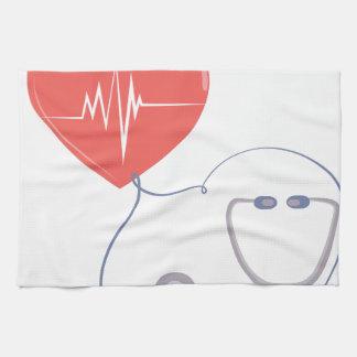 Heart Stethoscope Towel