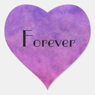 heart sticker foreve purple