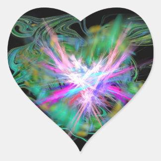 Heart sticker positive energy