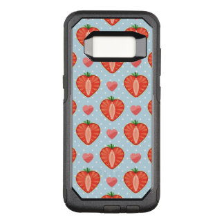 Heart Strawberries with Polka Dots And Hearts OtterBox Commuter Samsung Galaxy S8 Case