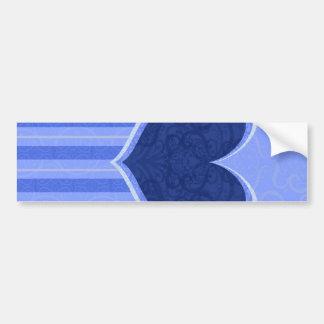 Heart Stripes Bumper Sticker