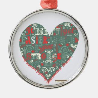 Heart - stronger metal ornament