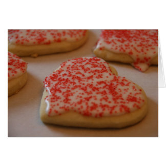 Heart Sugar Cookie Card
