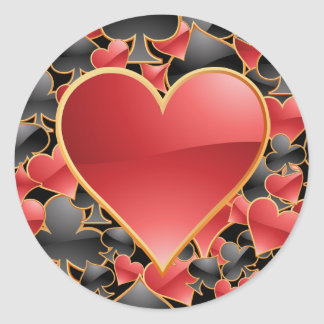 Heart Suit Sticker