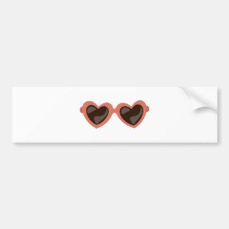 Heart Sunglasses Bumper Stickers