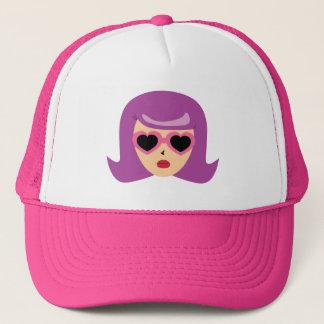 Heart Sunglasses Trucker Hat