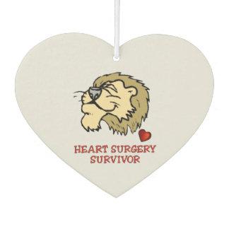 Heart Surgery Survivor Lion Car Air Freshener