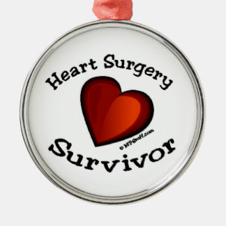Heart Surgery Survivor Metal Ornament