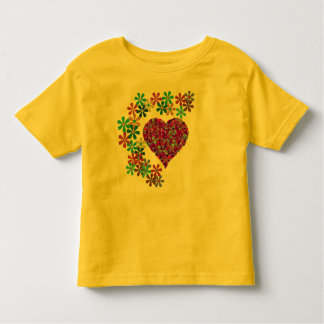 Heart Surrounded by Flowers Toddler Kids T-Shirt