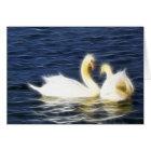 Heart Swans Card