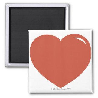 Heart Symbol Square Magnet