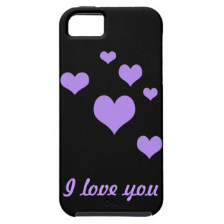 Heart t,i love you tough iPhone 5 case