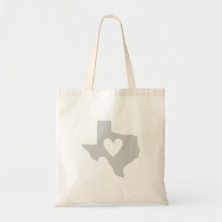 Heart Texas state silhouette Tote Bag