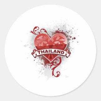 Heart Thailand Round Sticker