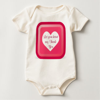 heart Thank You infant onsie Rompers