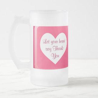 heart Thank You mugs