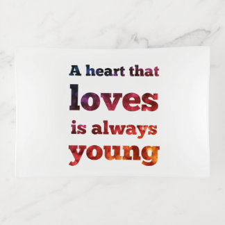 Heart That Loves Always Young Bokeh Trinket Tray