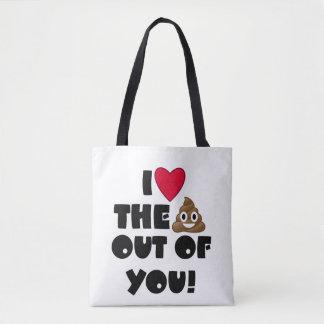 Heart The Poop Emoji Bag