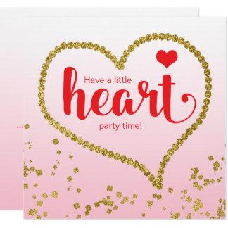 Heart Theme Family Reunion Birthday Party 13 Cm X 13 Cm Square Invitation Card