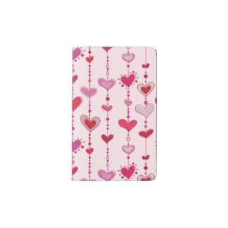 Heart Tiles Pocket Moleskine Notebook