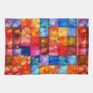 Heart Tiles Towel