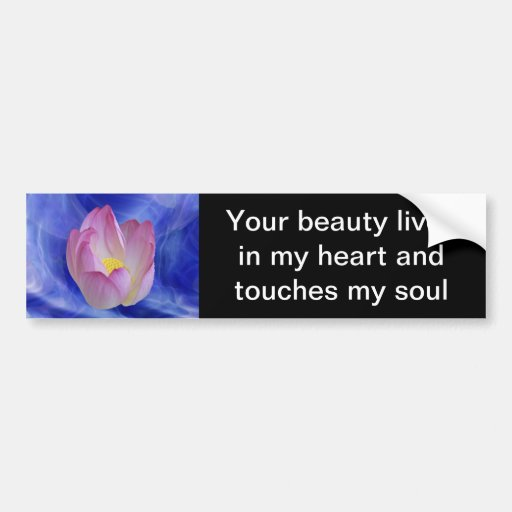 Heart to heart lotus flower bumper stickers