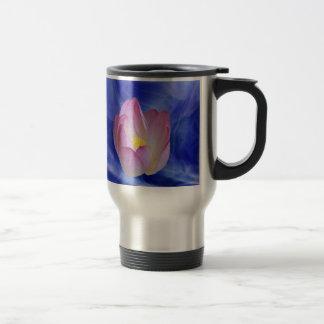 Heart to heart lotus flower stainless steel travel mug