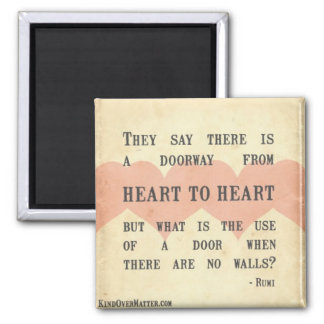 Heart to Heart Square Magnet