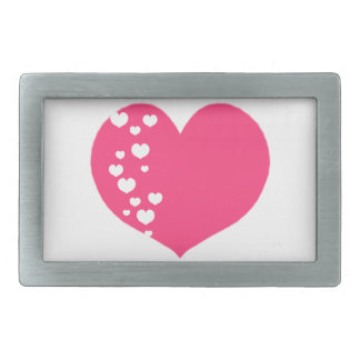 Heart Tracks Pink Clear Belt Buckles