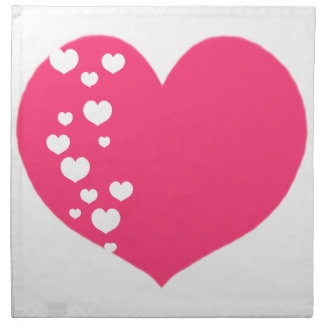 Heart Tracks Pink Clear Napkin