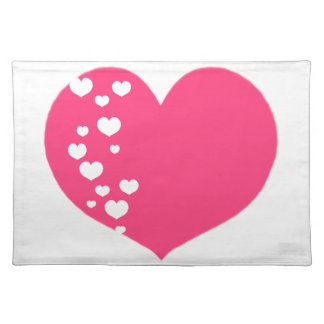 Heart Tracks Pink Clear Placemat