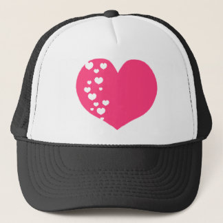 Heart Tracks Pink Clear Trucker Hat