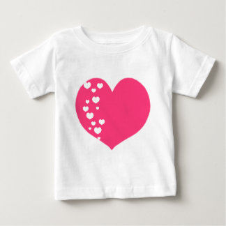 Heart Tracks Pink White Baby T-Shirt
