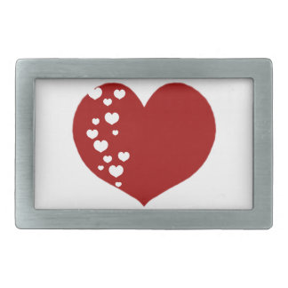 Heart Tracks Red Clear Belt Buckle